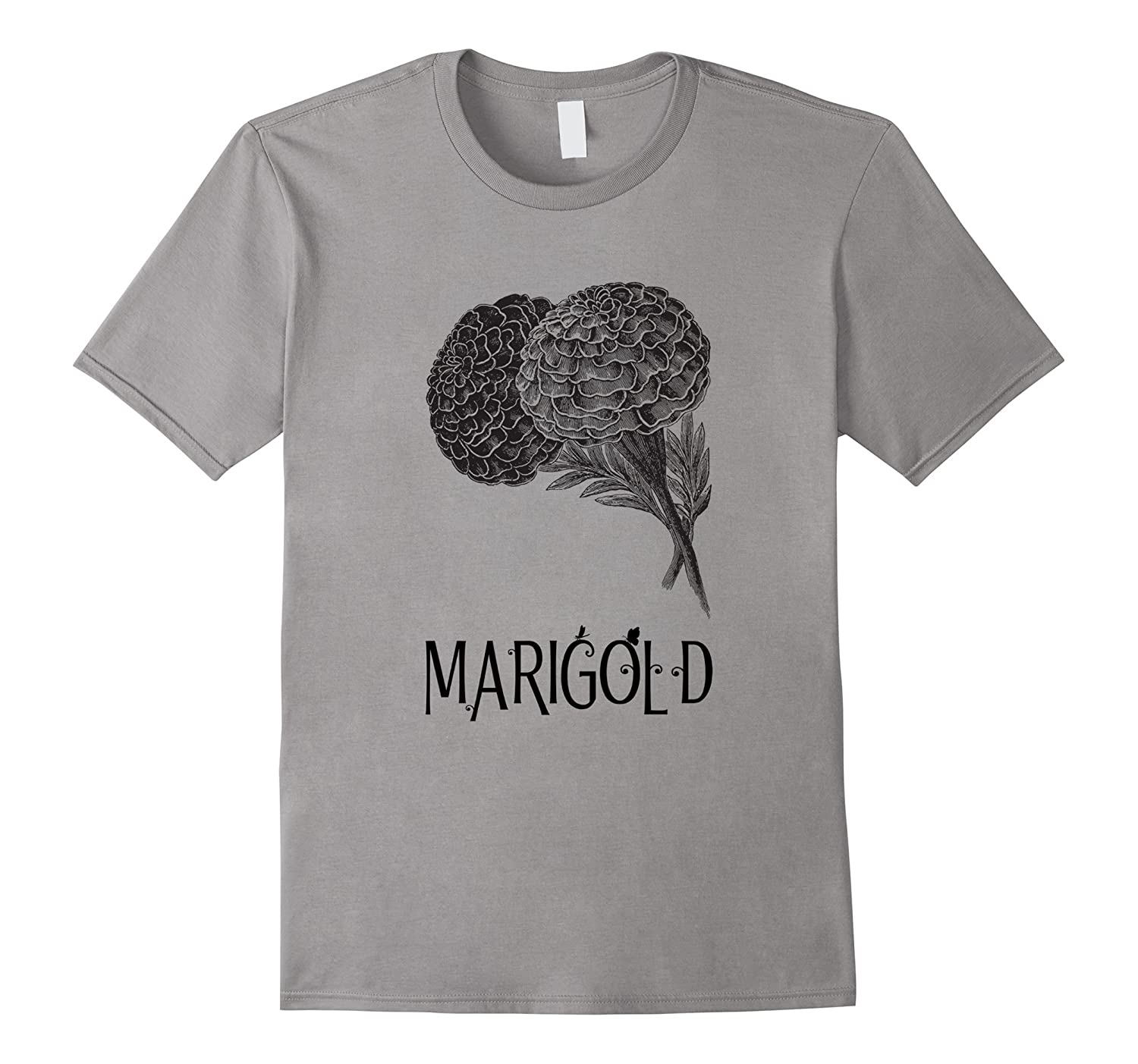 Marigold T Shirt Retro Antique Art Print Classic Bouquet-Art