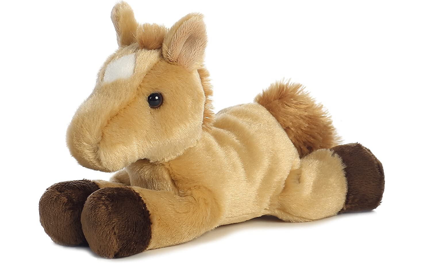 "Prancer Sorrel Roan Horse 8"" Mini Flopsie Stuffed Animal Aurora AW16639"