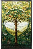 "10 Inch Stained Glass Tiffany - ""Tree of Life"" Art Glass"
