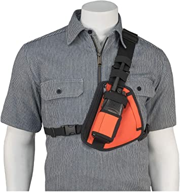 HOLSTERGUY RCH-101U Universal Radio Chest Harness Shoulder Radio Holster Chest Pack Adjustable Single Radio Pouch Two-Way Radio Holster for Motorola Radios and Walkie Talkies RCH-101U Made in USA
