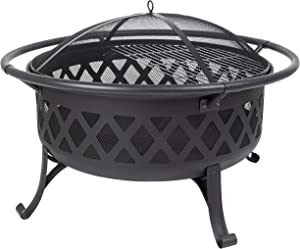 Pleasant Hearth OFW888R fire Pit, Black