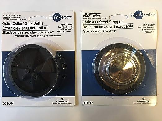 insinkerator Garbage Disposal Rubber Baffle and Sink Stopper Bundle - - Amazon.com