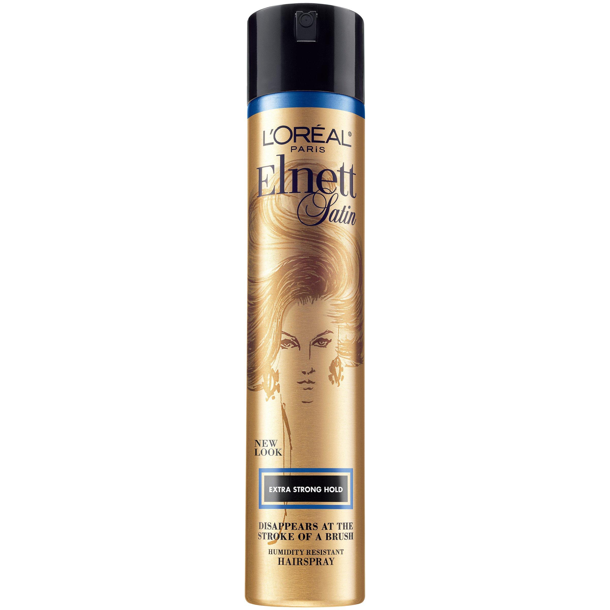 L'Oréal Paris Elnett Satin Extra Strong Hold Hairspray, 11 oz. (Packaging May Vary)