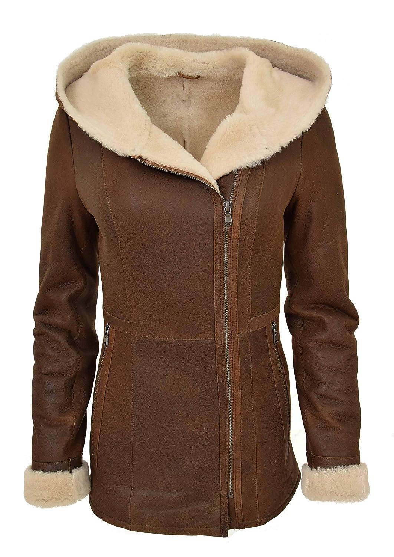 Giacca da donna 2020 Giacca in pelle scamosciata Cappotto in montone con cerniera marrone lambswool