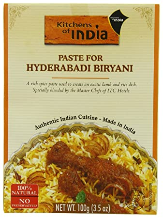 Kitchens Of India Curry Paste For Hyderabadi Biryani, 3.5 Ounce Boxes (Pack  Of