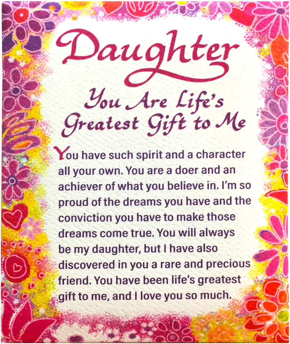 "Blue Mountain Arts Refrigerator Magnet ""Daughter, You Are Life's Greatest Gift to Me"" 4.0 x 3.25 in. Perfect Birthday, Christmas, Graduation, or ""Because I Love You"" Gift from a Mother or Father"