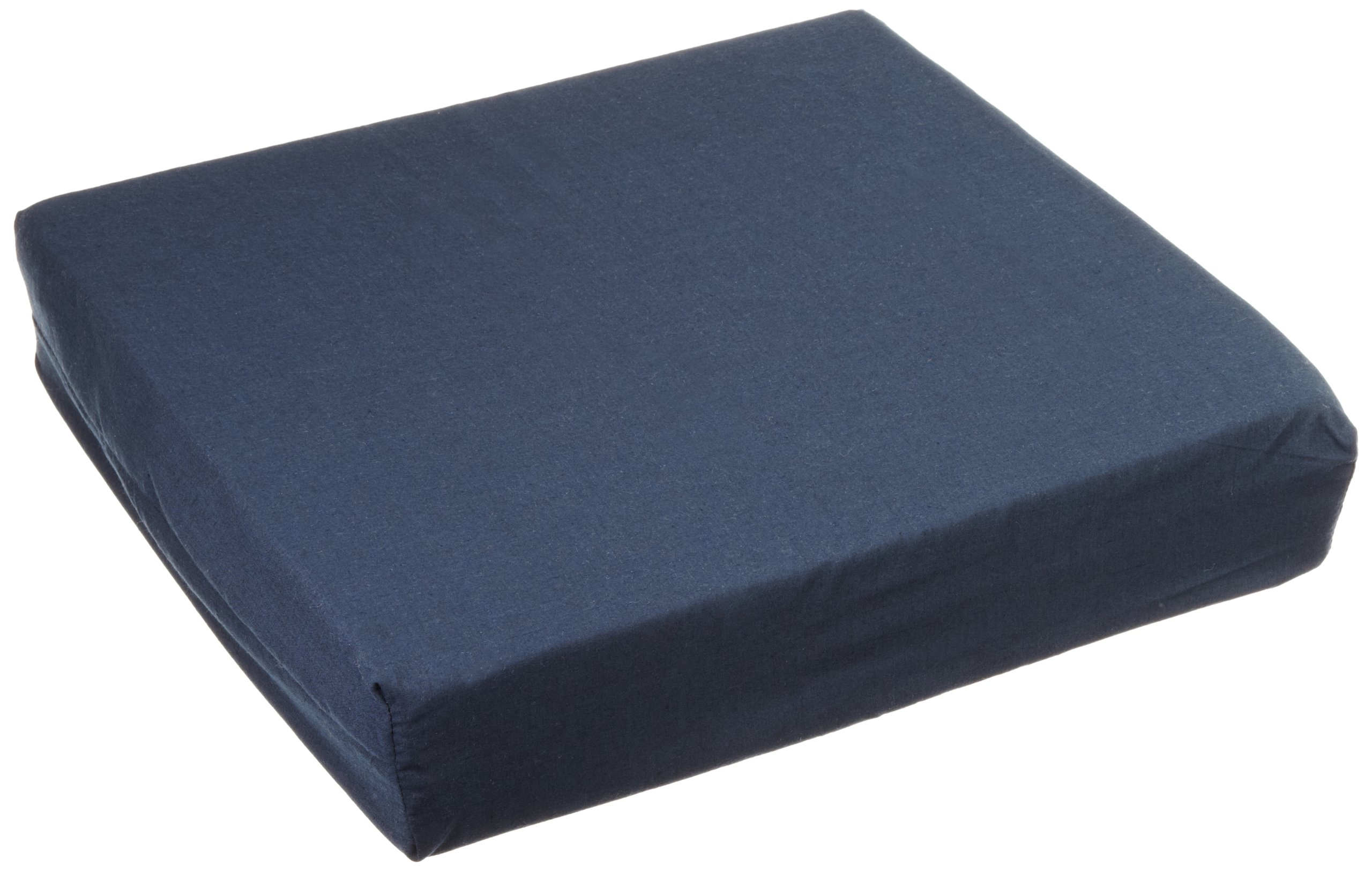 Hermell products WC4430ANV Wheelchair Cushion with Navy Polycotton Zippered Cover