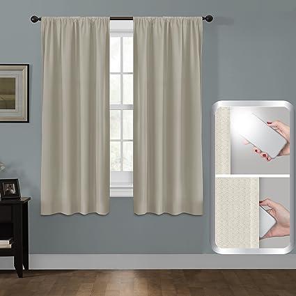 maytex certfied 100 percent blackout smart curtains ultimate light blocker julius rod pocket single panel window - Smart Curtains