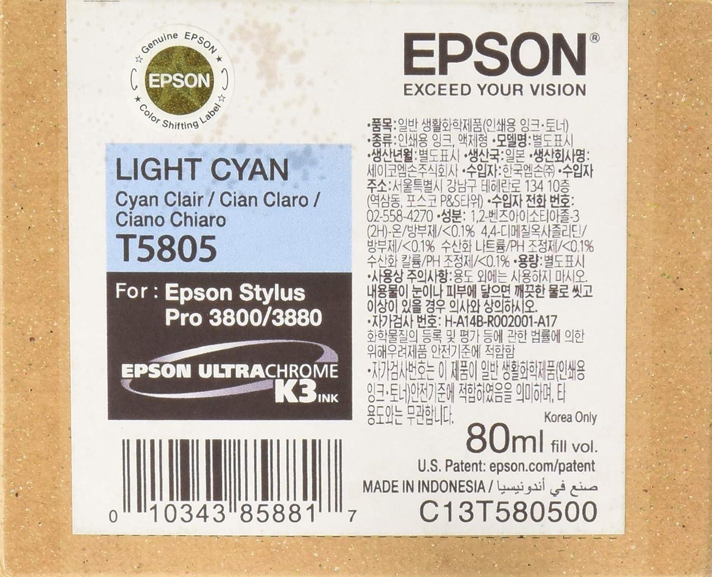 Epson C13T580500 - Cartucho de tinta, cian claro, Ya disponible en ...
