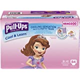 Pull-Ups Cool & Learn Training Pants for Girls, 3T-4T, 84 Count (Packaging May Vary)