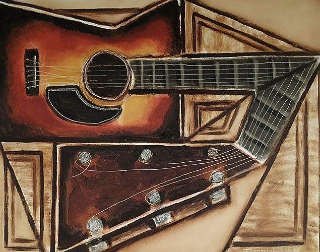 Acoustic Guitar Art Paintings