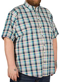 PETER GRIBBY SHORT SLEEVE SHIRT RED MULTI  CHECK  2XL3XL 4XL 5XL 6XL 7XL 8XL