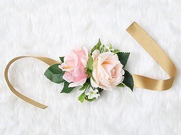 Amazon wrist corsage rose flower pretty wedding bridal wrist corsage rose flower pretty wedding bridal bridesmaids sweet tearose mightylinksfo