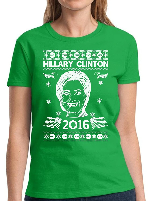 Hillary Clinton Christmas.Amazon Com Pekatees Christmas Hillary Clinton Shirt Women S Holiday