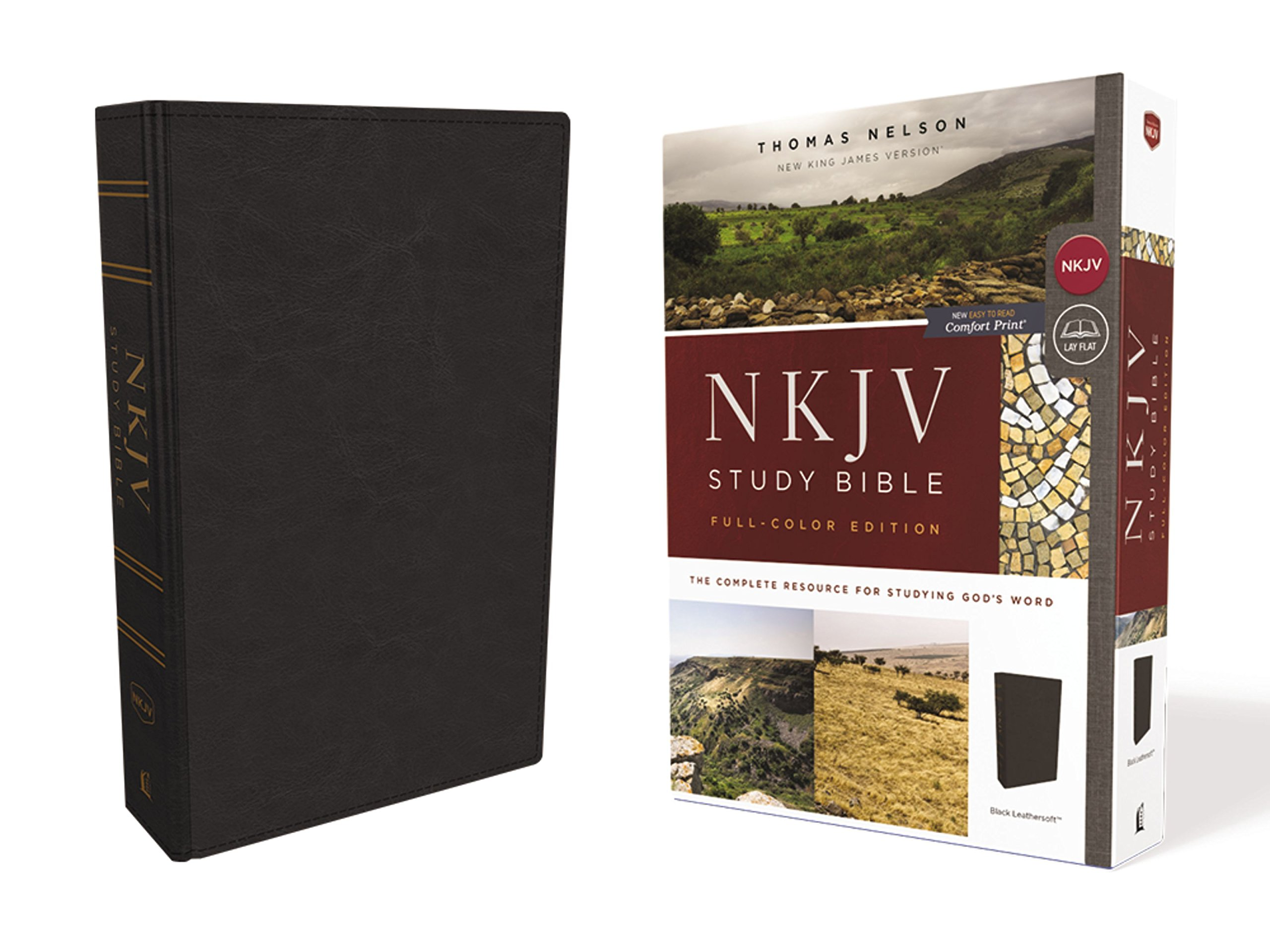 Read Online NKJV Study Bible, Leathersoft, Black, Full-Color, Comfort Print: The Complete Resource for Studying God's Word ebook