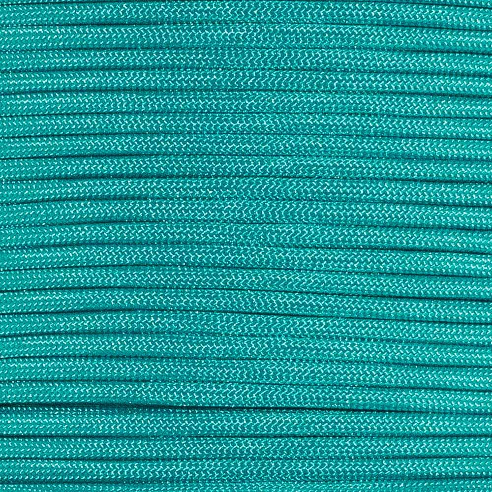 Type III 550 Paracord - Neon Turquoise - 25' Hank - 7 Strand Core - Parachute Cord, Nylon Commercial Paracord, Survival Cord