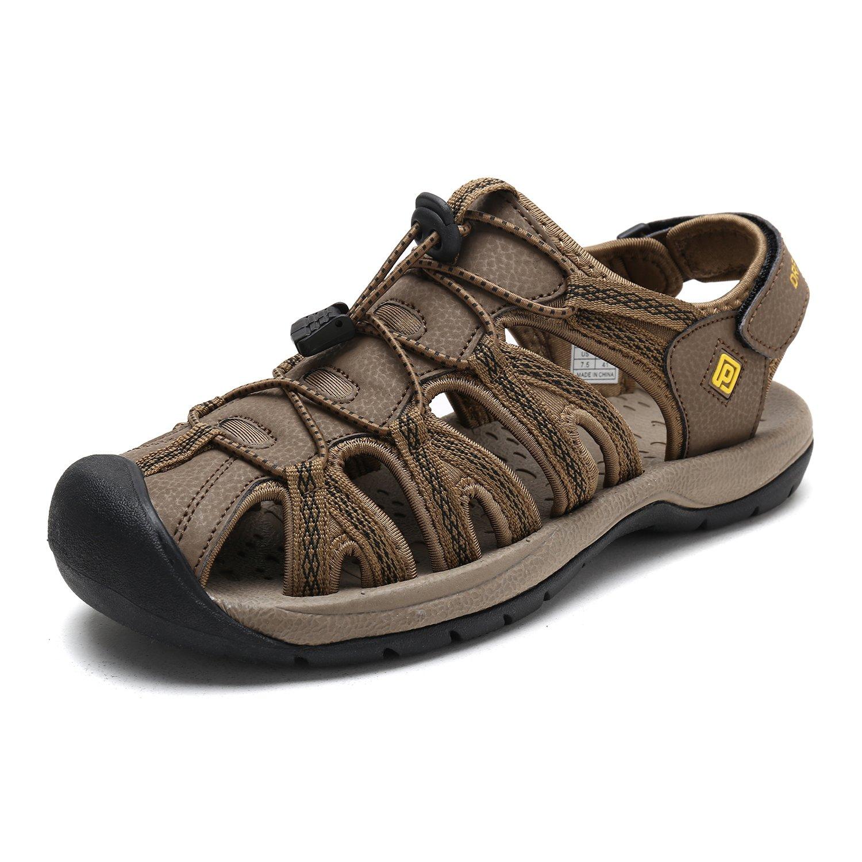 DREAM PAIRS Men's 160912-M-NEW Khaki Yellow Adventurous Summer Outdoor Sandals Size 9 M US