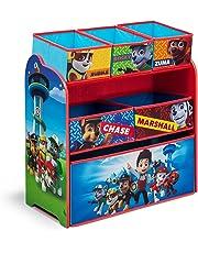Paw Patrol Niños Juguete unidad de almacenamiento, 3niveles, 2o 3cajón organizadores niños azul/rojo tela muebles de solución de almacenamiento, cestas/contenedores para sala de juegos infantil, dormitorio, sala de estar