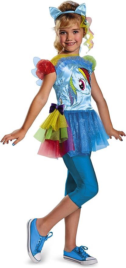 2 Sizes Disguise Hasbro/'s My Lil/' Pony Rainbow Dash Classic Girls Costume