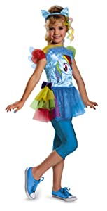 Hasbro's My Little Pony Rainbow Dash Classic Girls Costume, Medium/7-8