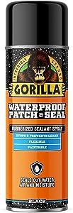 Gorilla Waterproof Patch & Seal Spray, Black, 16 Ounces, 1 Pack