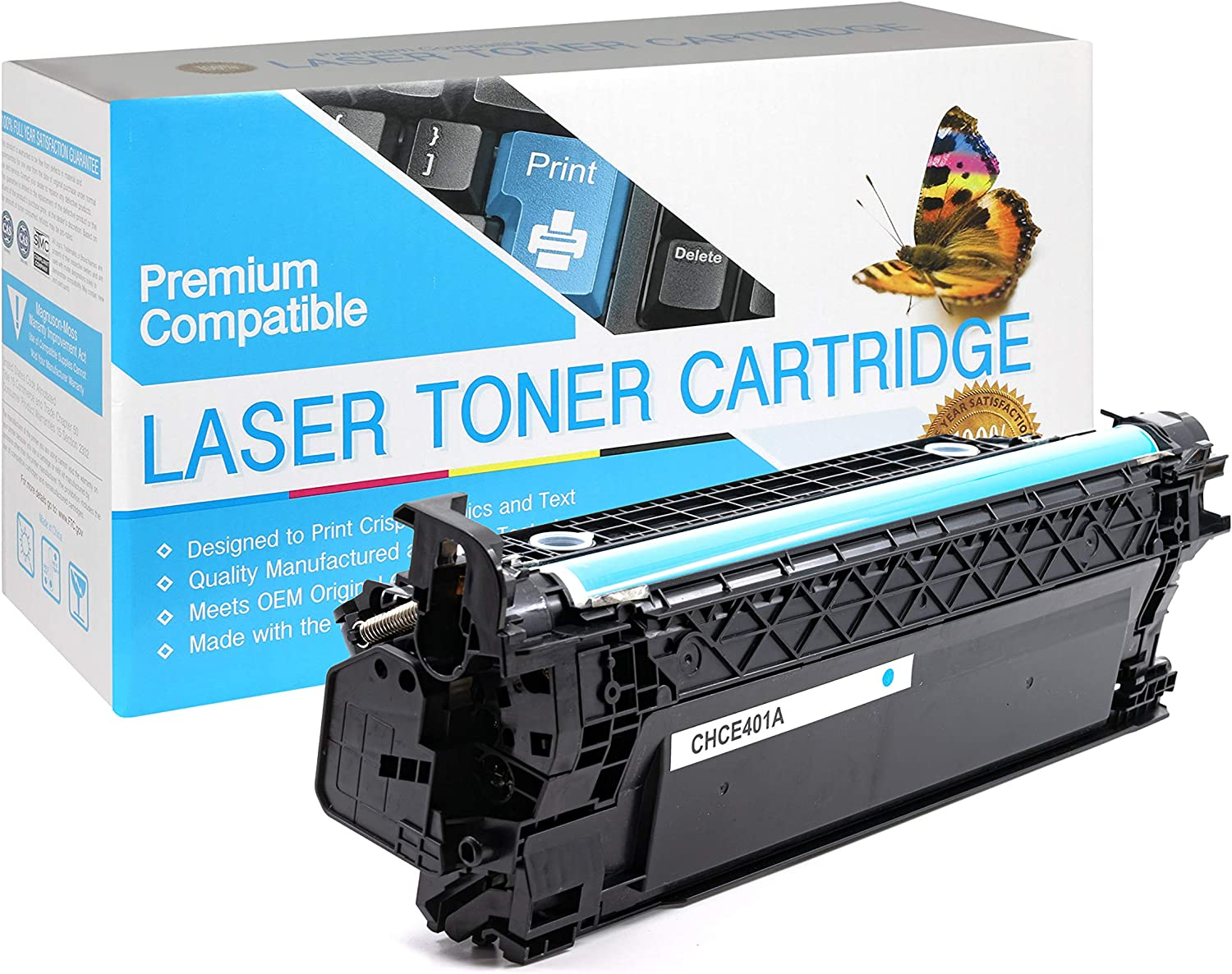 USA Advantage Compatible Toner Cartridge Replacement for HP 507A / CE401A (Cyan,1 Pack)