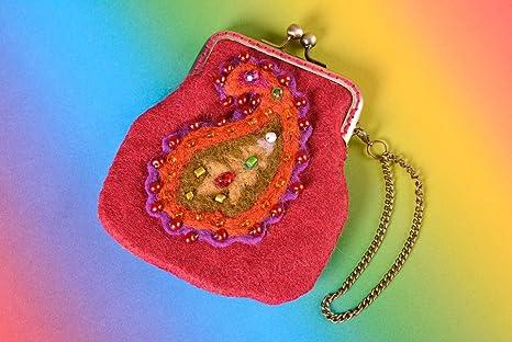Cartera de mujer accesorio artesanal de lana elegante regalo ...