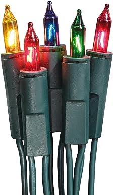 inkl Innen- und Au/ßenbeleuchtung Hellum 560411 Lichterkette Kabel gr/ün Trafo Zuleitung 10m Fassungsabstand: 10 cm 40-tlg wei/ße LED LED GL: 13,90m