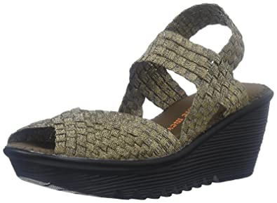 Bernie Mev Women's Fame Wedge Sandal Bronze 38 EU7.5 8 M US
