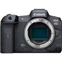 Canon EOS R5 Body Only Full Frame Mirrorless Camera, Black (R5BODY)
