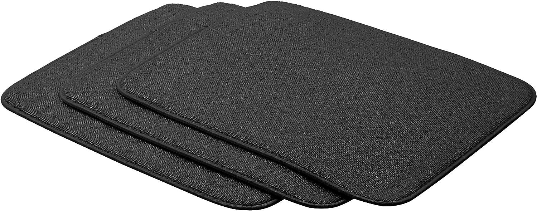 Noir lot de 4 40,6 x 47,7 cm Basics Tapis d/égouttoir