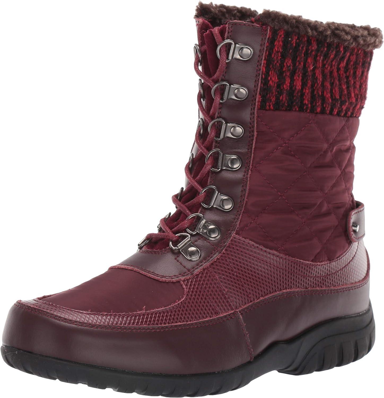 Propet Women's Delaney Frost Snow Boot, Bordo, 7.5 X-Wide