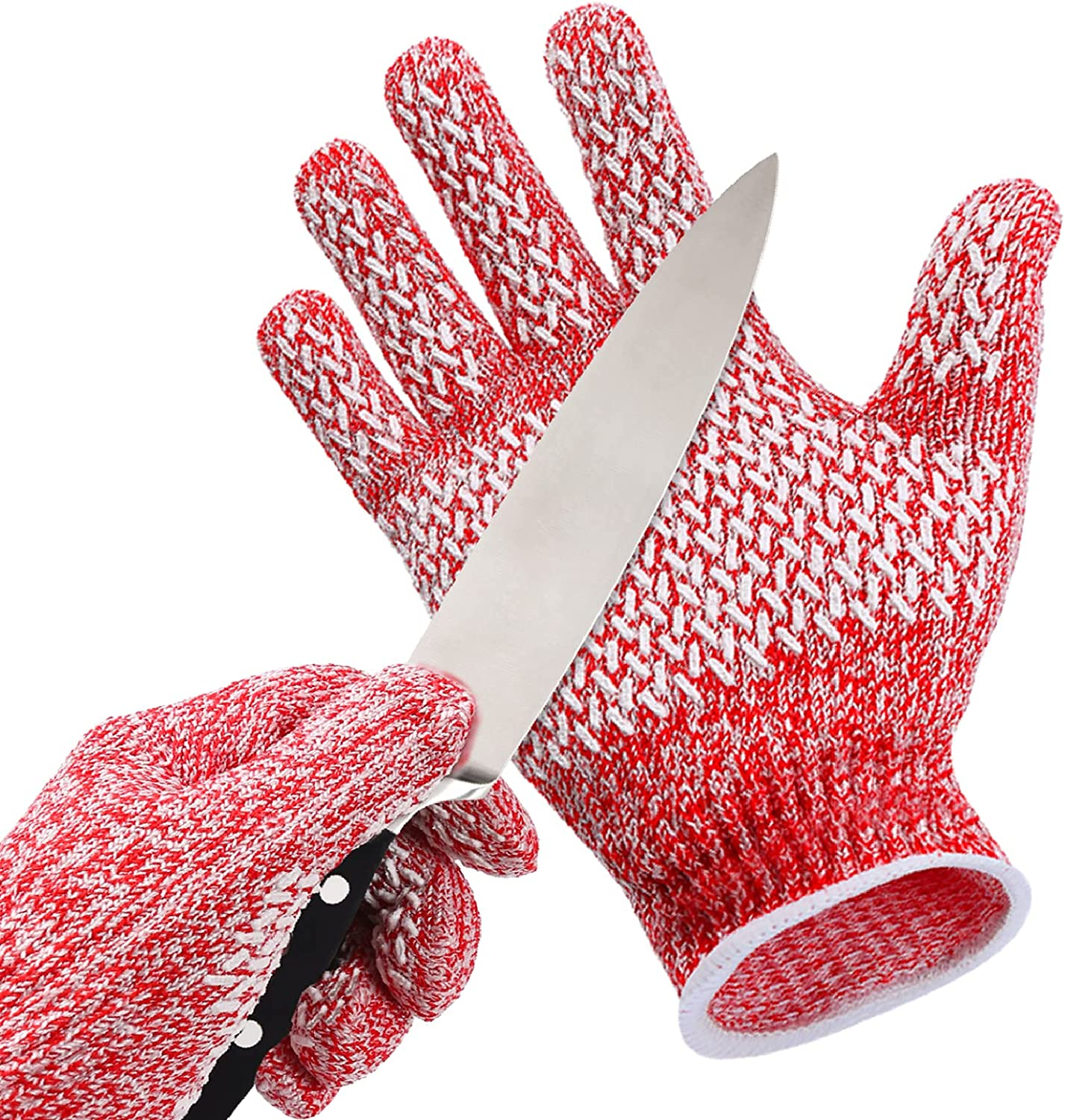 Kids Cut Resistant Gloves, Upgraded Non-slip Grips, Food Grade Safety Work Cutting Gloves for Kitchen, Woodworking