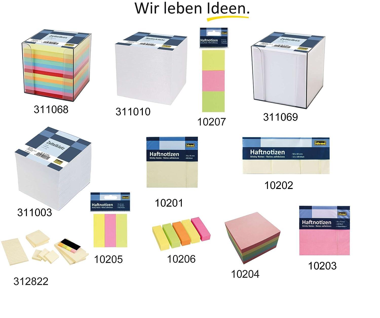 9 x 9 x 10 cm Idena 311069 700 Blatt Zettelbox