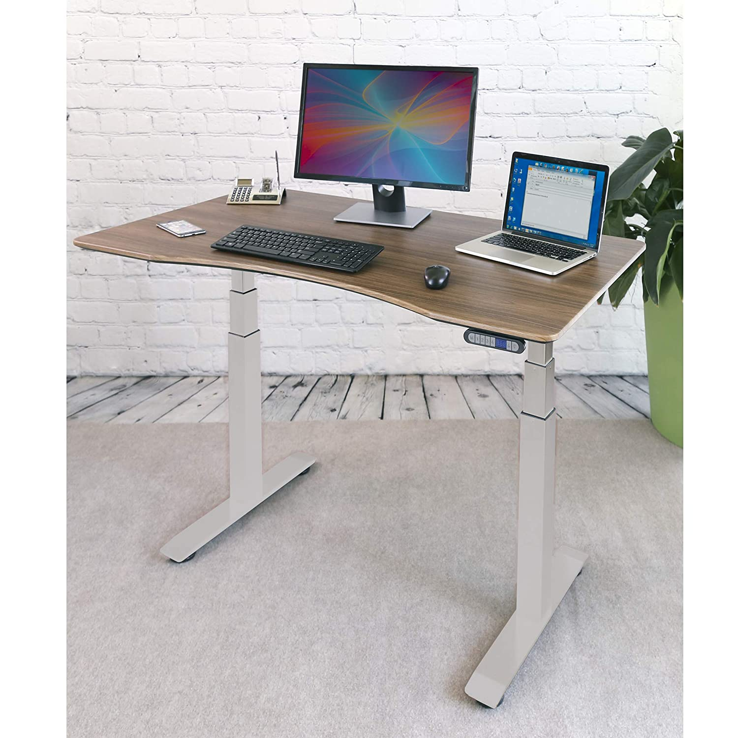 48L x 24W x 65.5H Inches Stainless Steel UHD20247B UltraHD Lighted Workbench Seville Classics