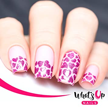 Amazon.com: Whats Up Nails - Hearts Vinyl Stencils for Nail Art ...