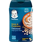 Gerber Baby Cereal DHA and Probiotic Oatmeal Baby Cereal, 8 Ounce, Pack of 6