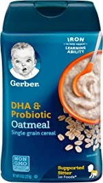Gerber Baby Cereal DHA & Probiotic Oatmeal Baby Cereal, 8 Ounces