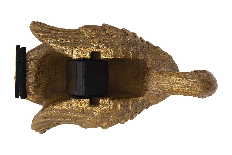 Creative Co-op Gold Resin Swan Shaped Tape Dispenser,