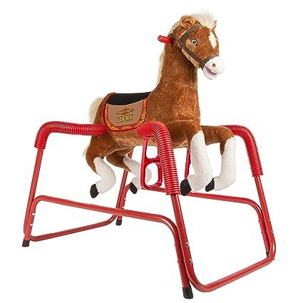 Amazon.com: Rockin\' Rider Lucky Talking Plush Spring Horse: Toys & Games