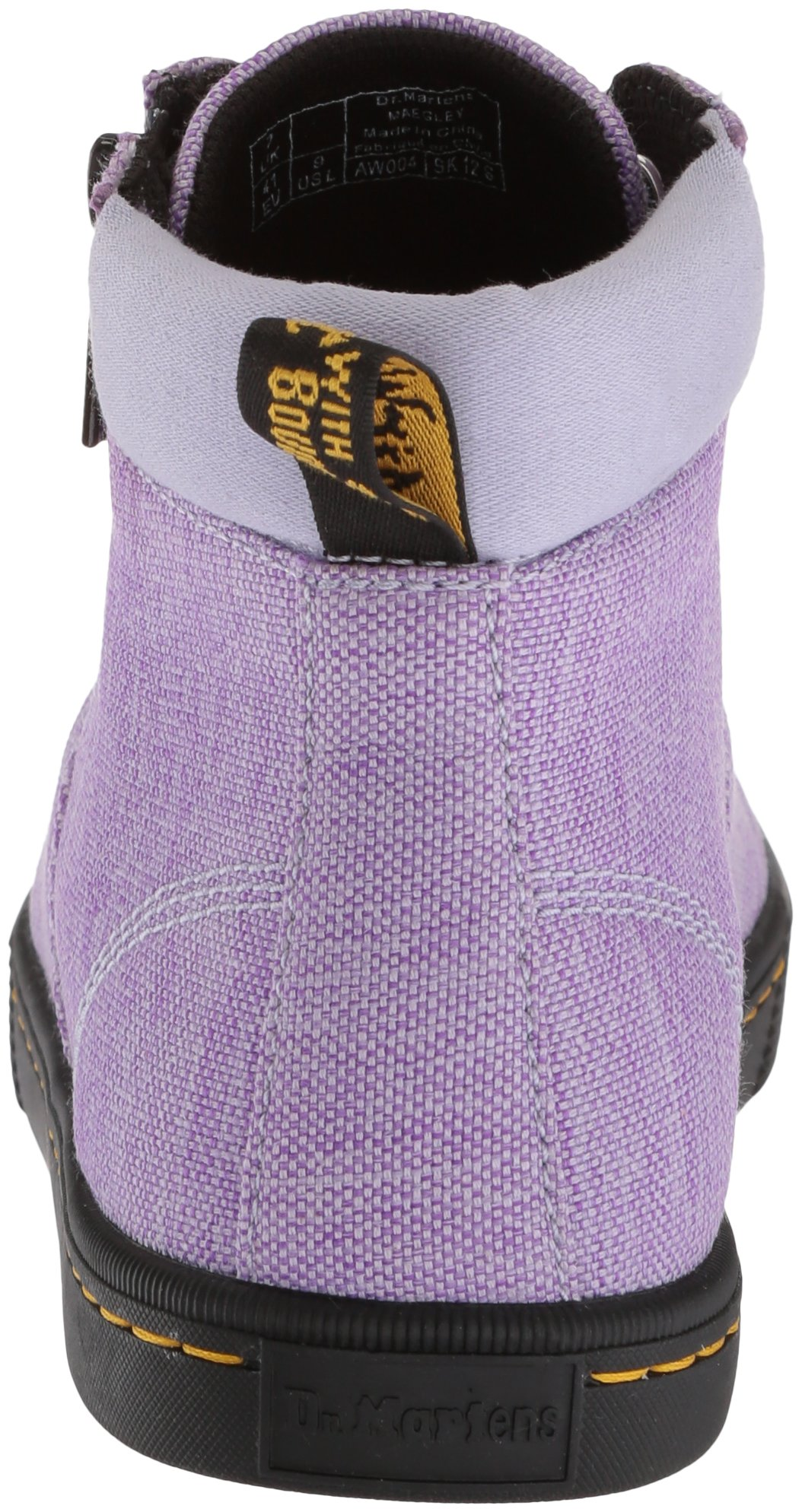 Dr. Martens Women's Maegley Fashion Boot, Purple Heather Woven Textile+Fine Canvas, 6 Medium UK (8 US) by Dr. Martens (Image #2)