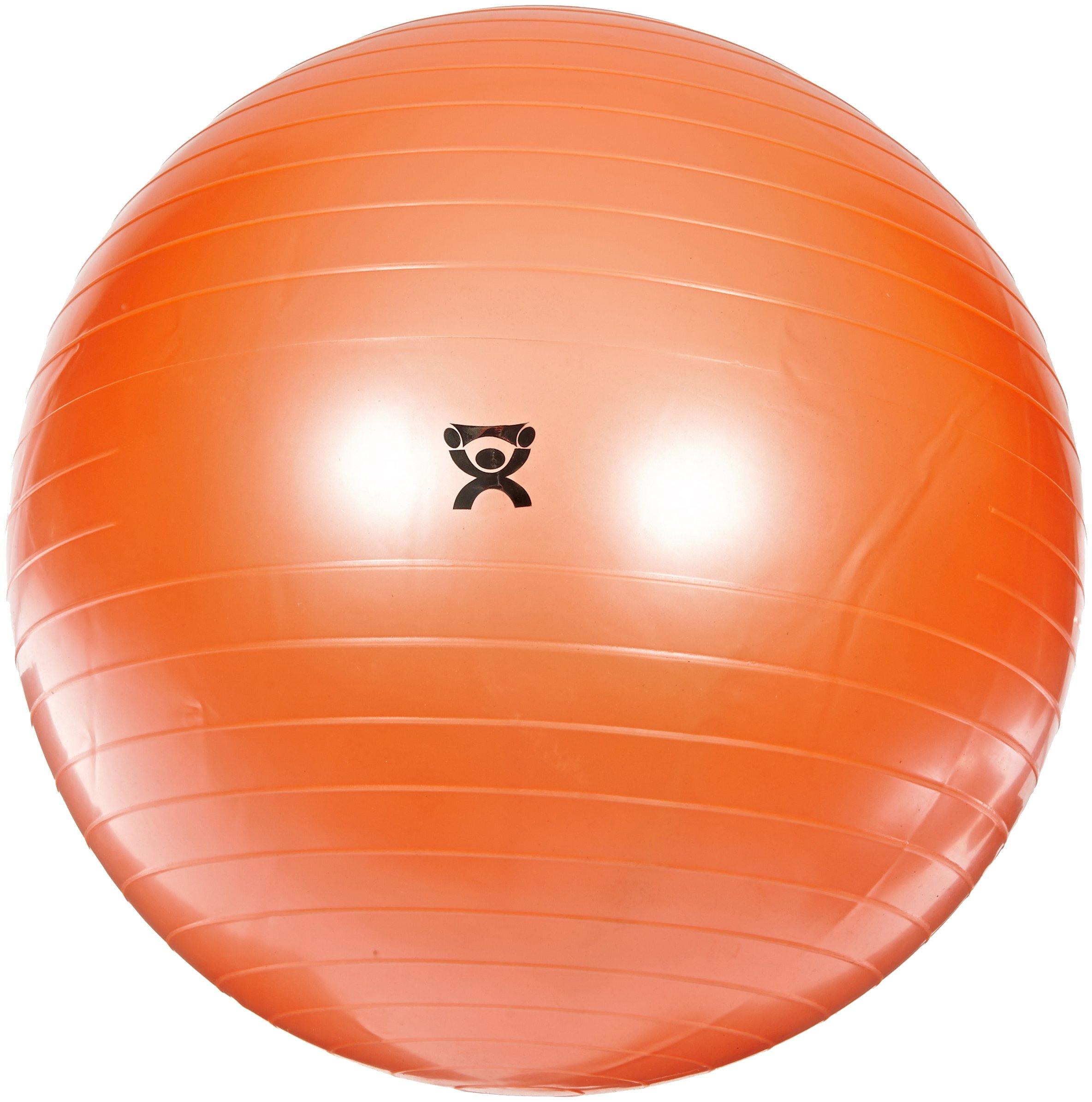 Cando 30-1802 Orange Non-Slip PVC Vinyl Inflatable Exercise Ball, 22'' Diameter, 300 lbs Weight Capacity by Cando