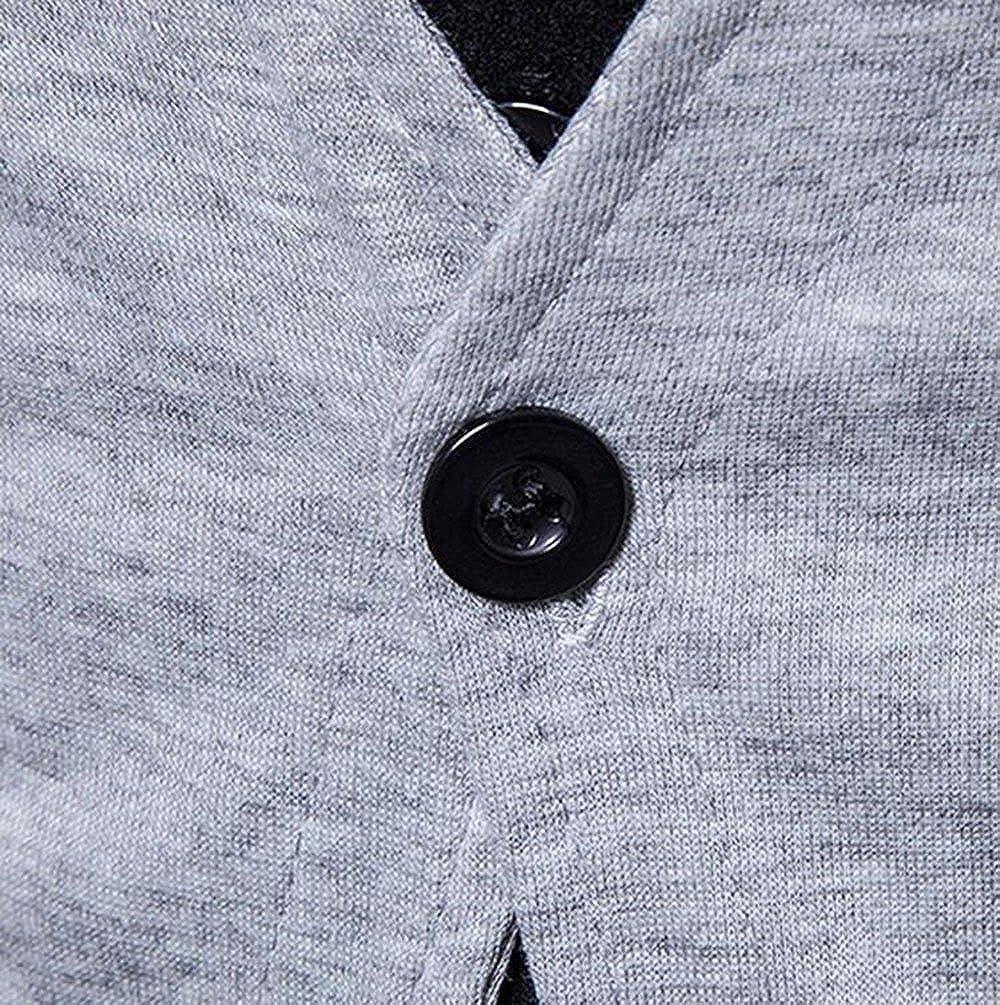 goldenharvest GH Mens V Neck Patchwork Pocket Two Button Casual Blazer Tops