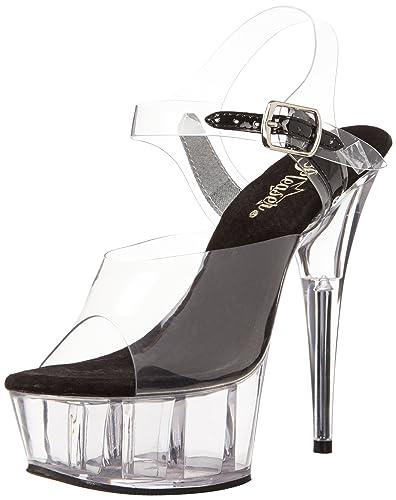 64945c4df5d Pleaser Women s s Delight-608 Platform Sandals  Amazon.co.uk  Shoes ...