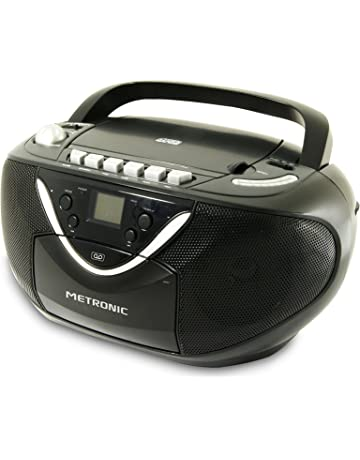 Metronic 477131 - Radio CD / MP3 cassette, negro