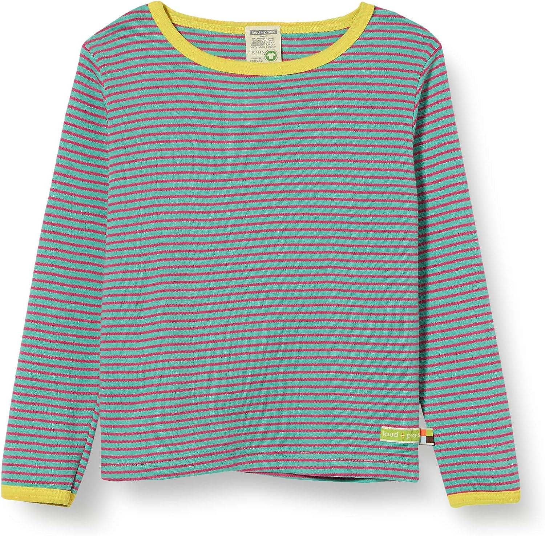 proud M/ädchen Striped Shirt Organic Cotton Langarmshirt loud
