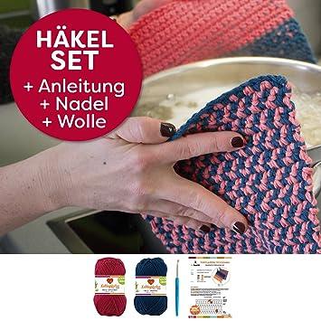 Topflappen Toyokawa Set häkeln Häkel-Set: Häkelanleitung + ...