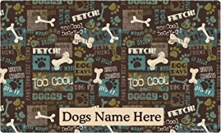 product image for Drymate Custom Personalized Dog Place Mat - Best Friend - Personalized Dog Food Mat