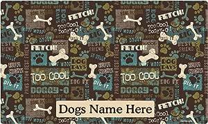 Personalized Pet Mat for Food Water Dish Terrazzo Pattern Modern Cute Dog Cat Placemat New Pet Gift Custom Bowl Mat Non-Slip Feeding Mat