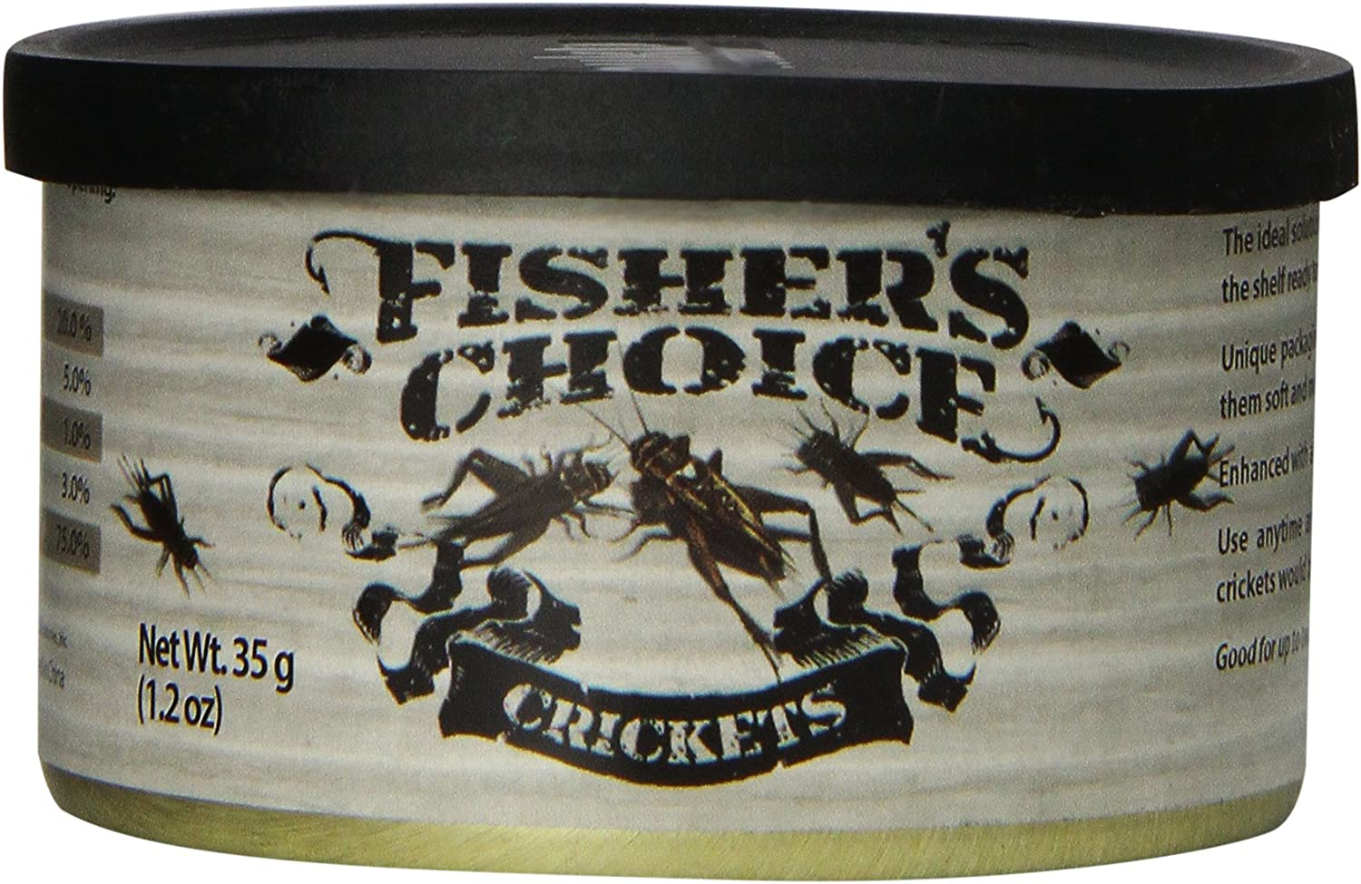 Timbuktu Outdoors Fishers Choice: Crickets 35g/ 1.2 oz, Brown